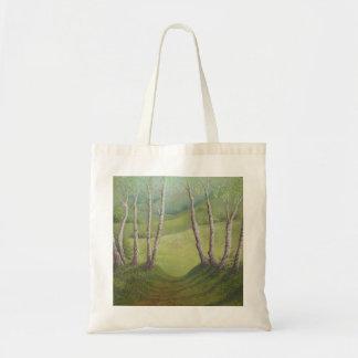 Birches in Spring, Walton Heath, Surrey Tote Bag
