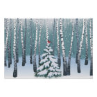 Birches In The Winter Forest Poster