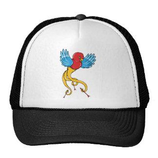 Bird 3 Vintage Forties Tattoo Bird Art Trucker Hat