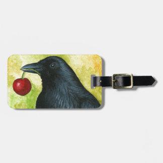 Bird 55 crow raven luggage tag