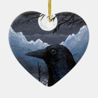 Bird 58 Crow Raven Ceramic Ornament