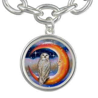 Bird 69 Owl Charm Bracelet