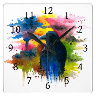 Bird 71 Crow Raven Clocks