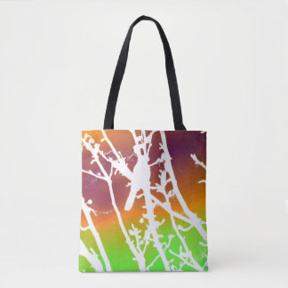 Bird abstract - multi-color tote bag