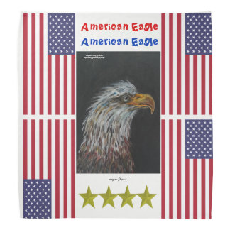 Bird american eagle head up worldwide bandana