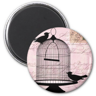 Bird and Cage Steampunk Magnet