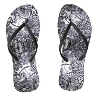 Bird and chaos abstract - Flip flops - chanclas