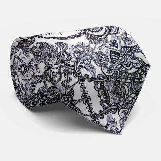 Bird and chaos abstract - Tie - Necktie