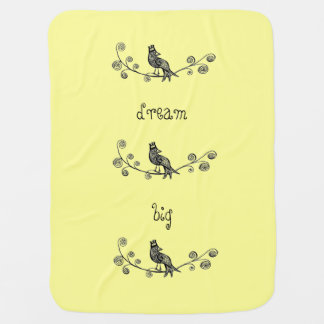 Bird and Crown Swaddle Blankets