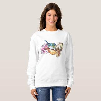 Bird and crystals sweatshirt