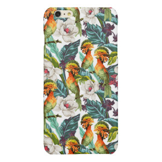 Bird And Exotic Flower Pattern