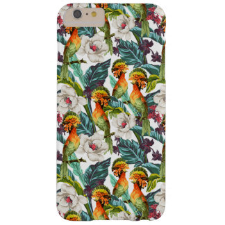 Bird And Exotic Flower Pattern Barely There iPhone 6 Plus Case