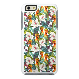 Bird And Exotic Flower Pattern OtterBox iPhone 6/6s Plus Case