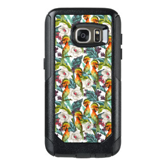 Bird And Exotic Flower Pattern OtterBox Samsung Galaxy S7 Case