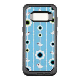 bird and flowers blue pattern OtterBox commuter samsung galaxy s8 case