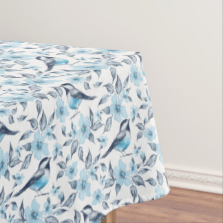 Bird and flowers tablecloth