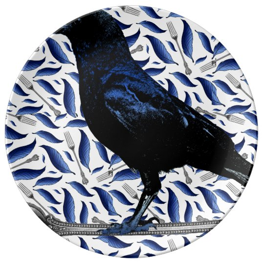 Bird and Fork Decorative Plate Porcelain Plate