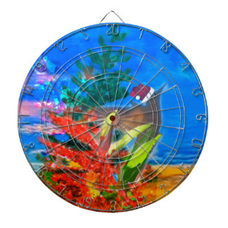 Bird and Nature in Christmas Dartboard