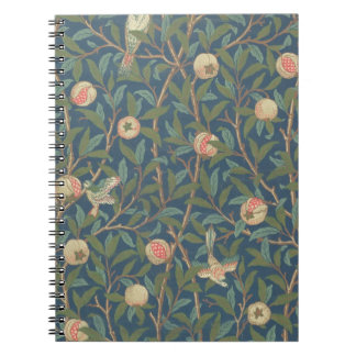 'Bird and Pomegranate' Wallpaper Design, printed b Notebook