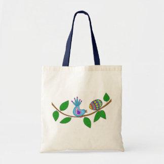 Bird and Pysanka Ukrainian Folk Art Tote Bag