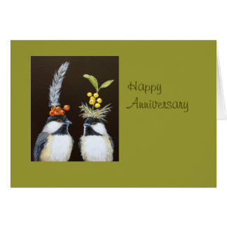 bird anniversary card from all of us