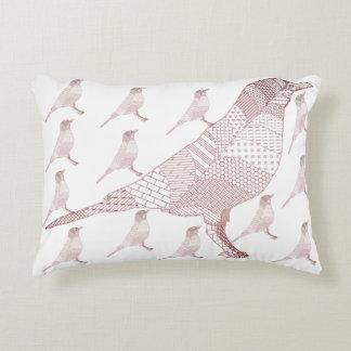 Bird art. accent pillow