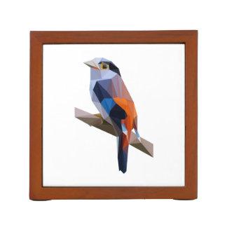 Bird art desk organizer