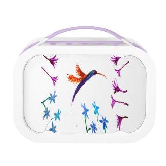 Bird Art Floral Hummingbird Lunch Box