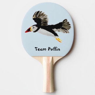 Bird Art Flying Puffin Ping Pong Paddle