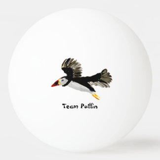 Bird Art Flying Puffins Ping Pong Ball
