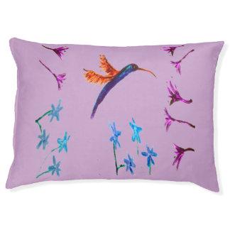 Bird Art Hummingbird Flowers Floral Pet Bed