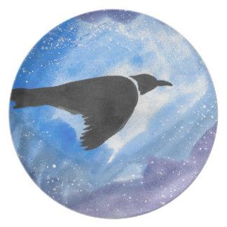 Bird At Night Plate