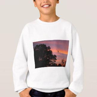 bird at sunset sweatshirt
