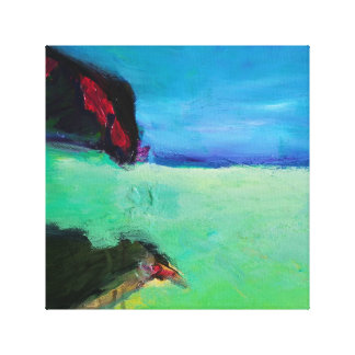 Bird at the beach gallery wrap canvas