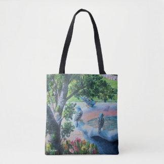 Bird Bath Tote Bag