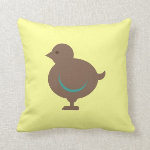 Bird Birds Chick Chicken Cute Cartoon Pillow