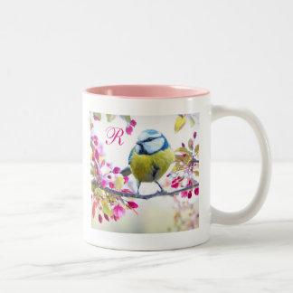 Bird & Bloom Monogram Two-Tone Coffee Mug