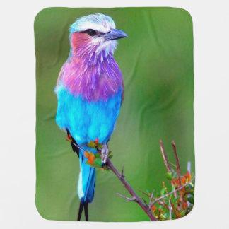Bird Blue Baby Blanket