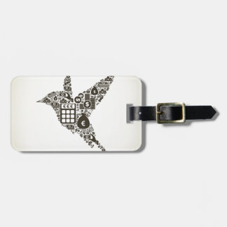 Bird business luggage tag