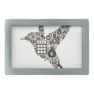 Bird business rectangular belt buckles