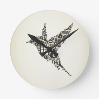 Bird business round clock