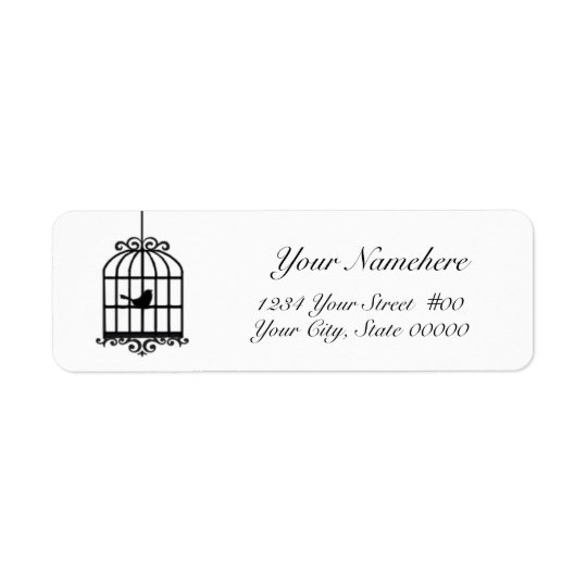 Bird Cage Avery Address Label