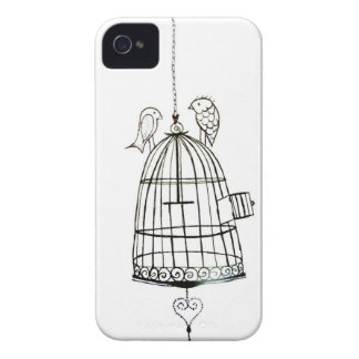 bird cage drawing iPhone 4 Case-Mate case