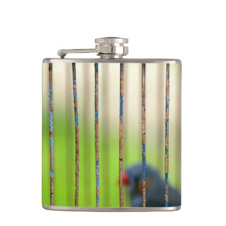 Bird, Cage Hip Flask
