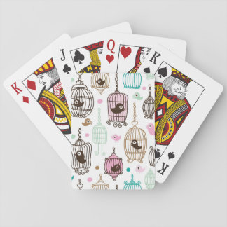bird cage love kids background pattern playing cards