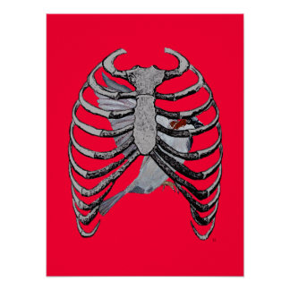Bird Cage Poster Art (Red)