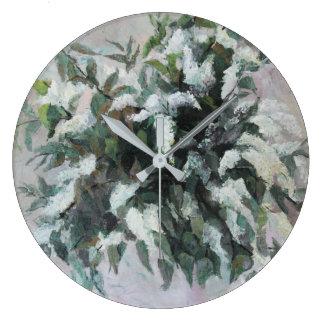 Bird Cherry bouquet Large Clock