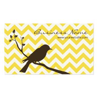 Bird Chevron Business Card yellow