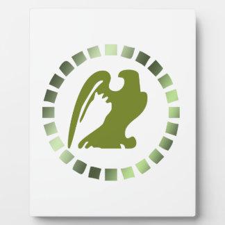 bird circle plaque