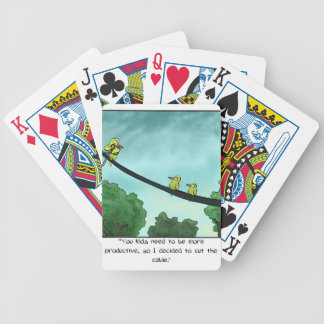 Bird Cut the Cable Bicycle Playing Cards